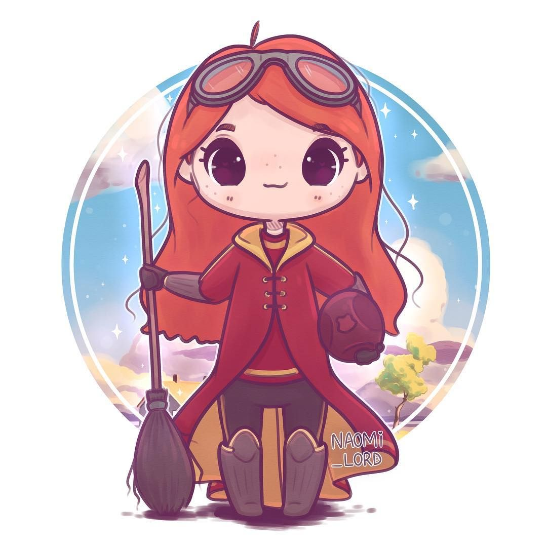 Chibi Quidditch Ginny! I Absolutely Love Ginny's Character