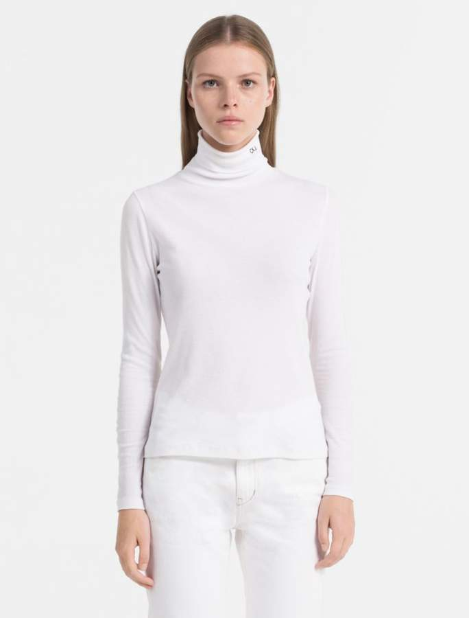 04a6312cff1 Slim fit rib-jersey roll neck top | Products | Roll neck top, High ...