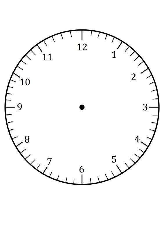 printable clock face