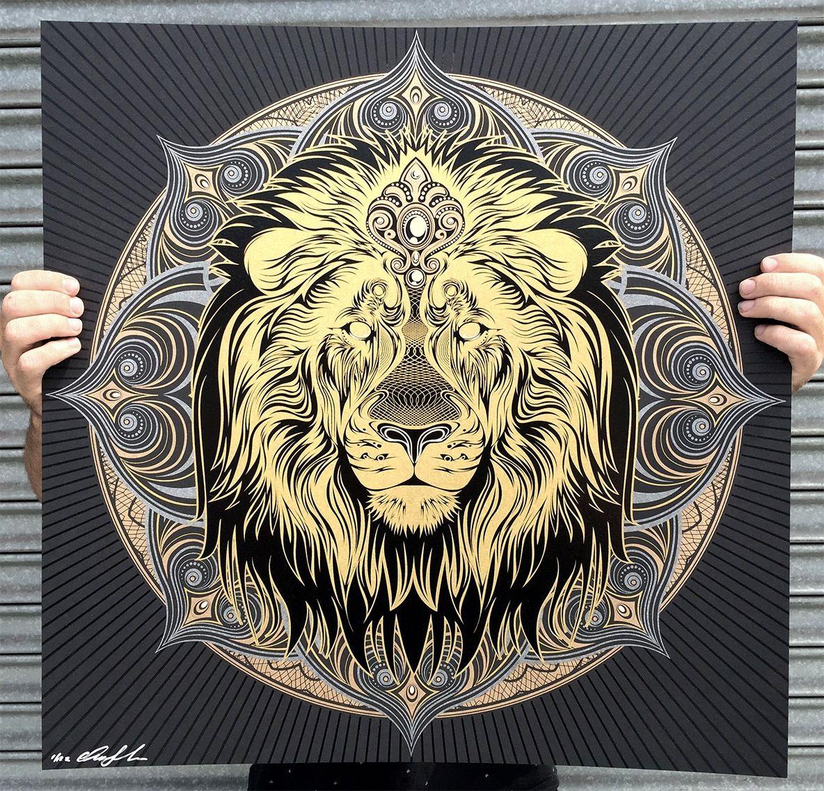 Image de Iron Lion Mandala Lion mandala, Lion tattoo