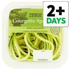 Courgette Spaghetti 250g Healthy Food Alternatives Tesco