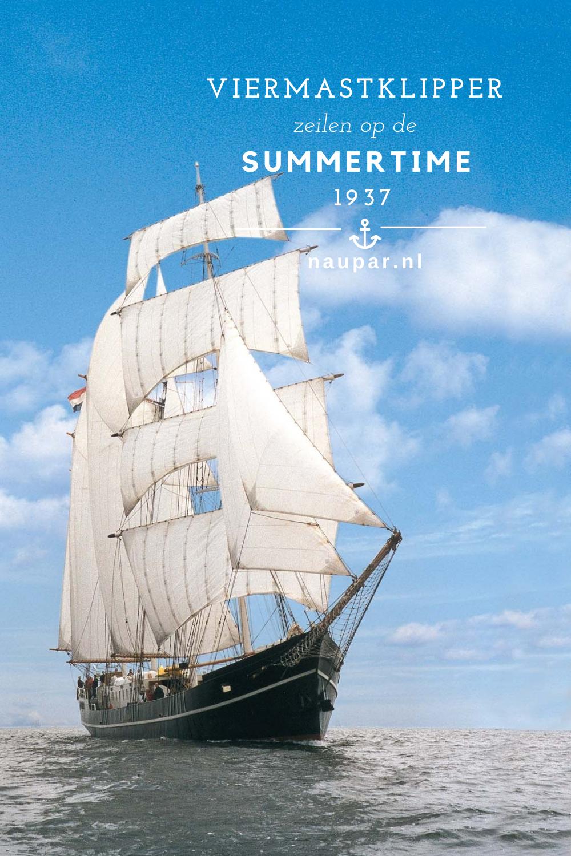 Barkentijn Summertime Naupar Zeilen Schip Zeilschepen