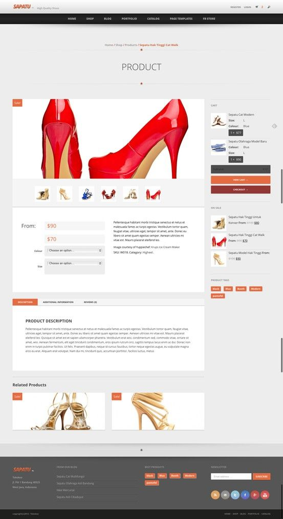 Sapatoo - Clean WooCommerce WordPress Theme - Mojo Themes - product description template