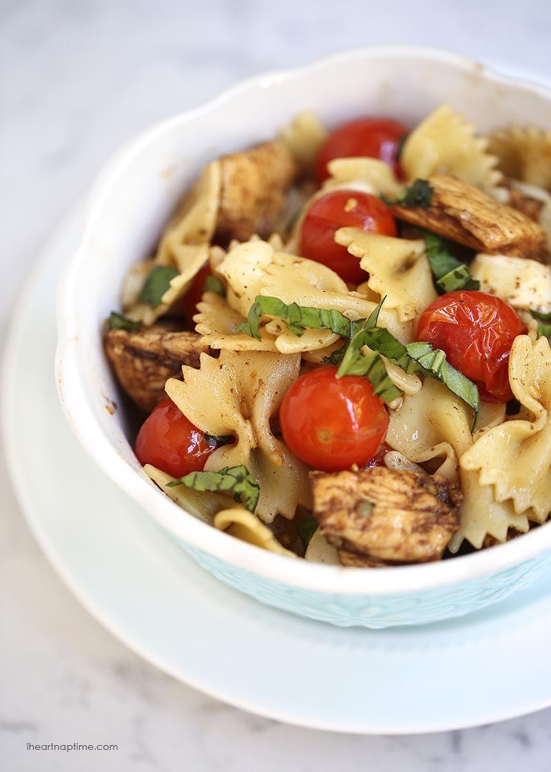 Balsamic Chicken Caprese Pasta from I Heart Naptime