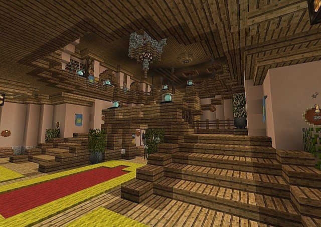 how to make a minecraft town hall