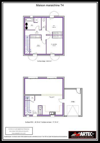 Épinglé par To Ma sur Plans | Plan maison, Plan maison 100m2
