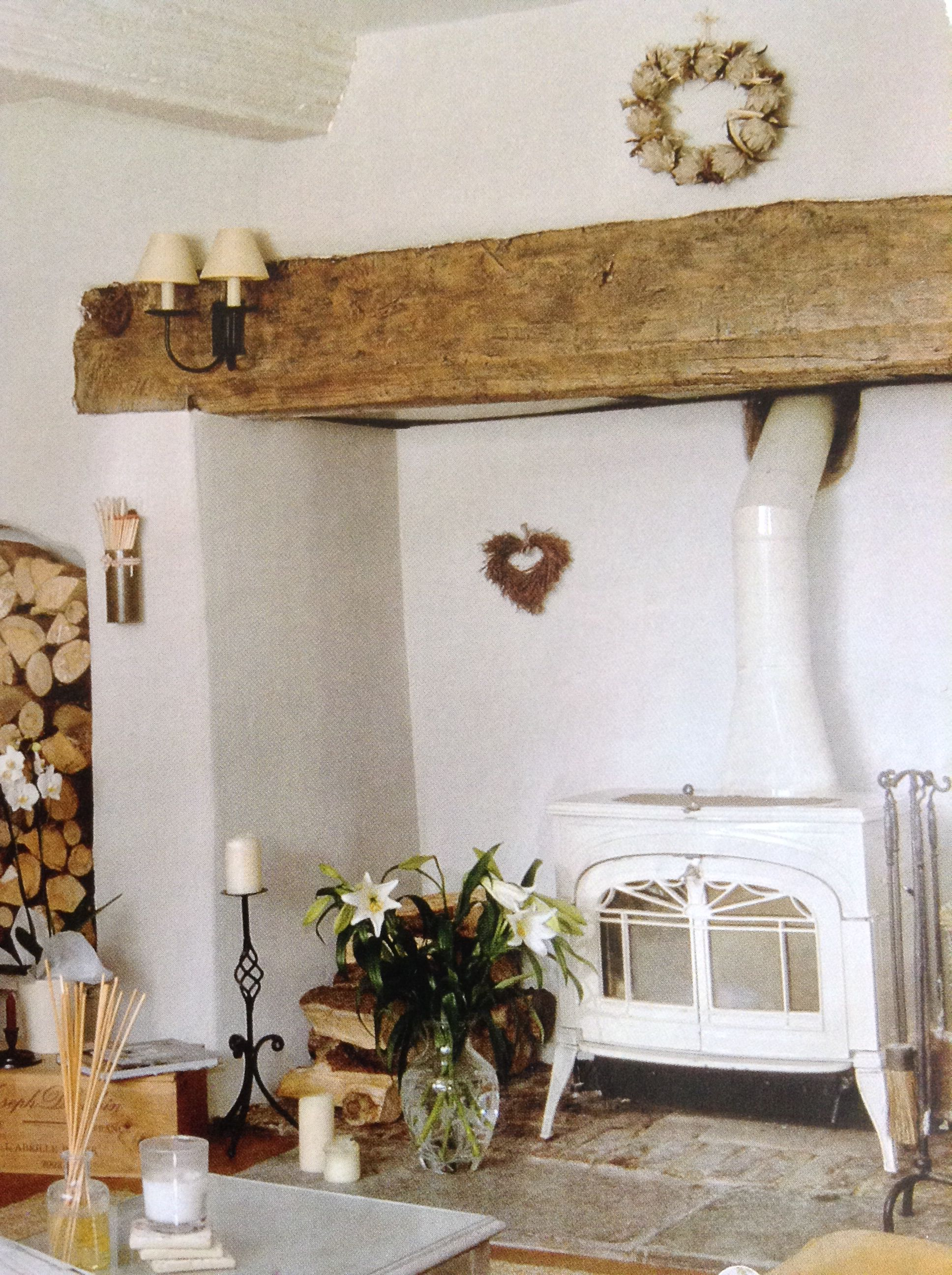 Beam Over Fireplace Is Great Country Cottage Living