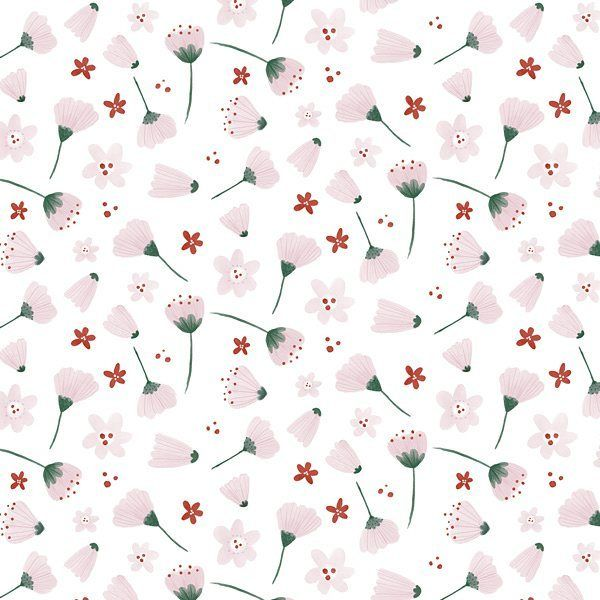 Another floral pattern in strawberry pinks! #pattern #floral #surfacepattern