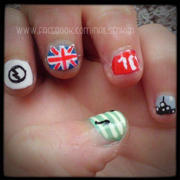 L'oreal resist & shine / base & top.  Yeslove 39. Easy Paris 31. Claire's blanco y rojo. Astor Fashion Studio 136. Essence tip painter. Deliplús gel acabado brilo 06. #nails #notd #nailsblogger #polish