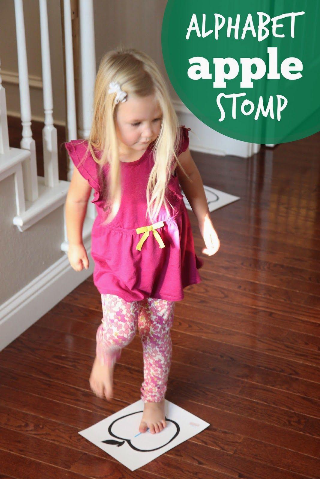 Alphabet Apple Stomp Game For Kids