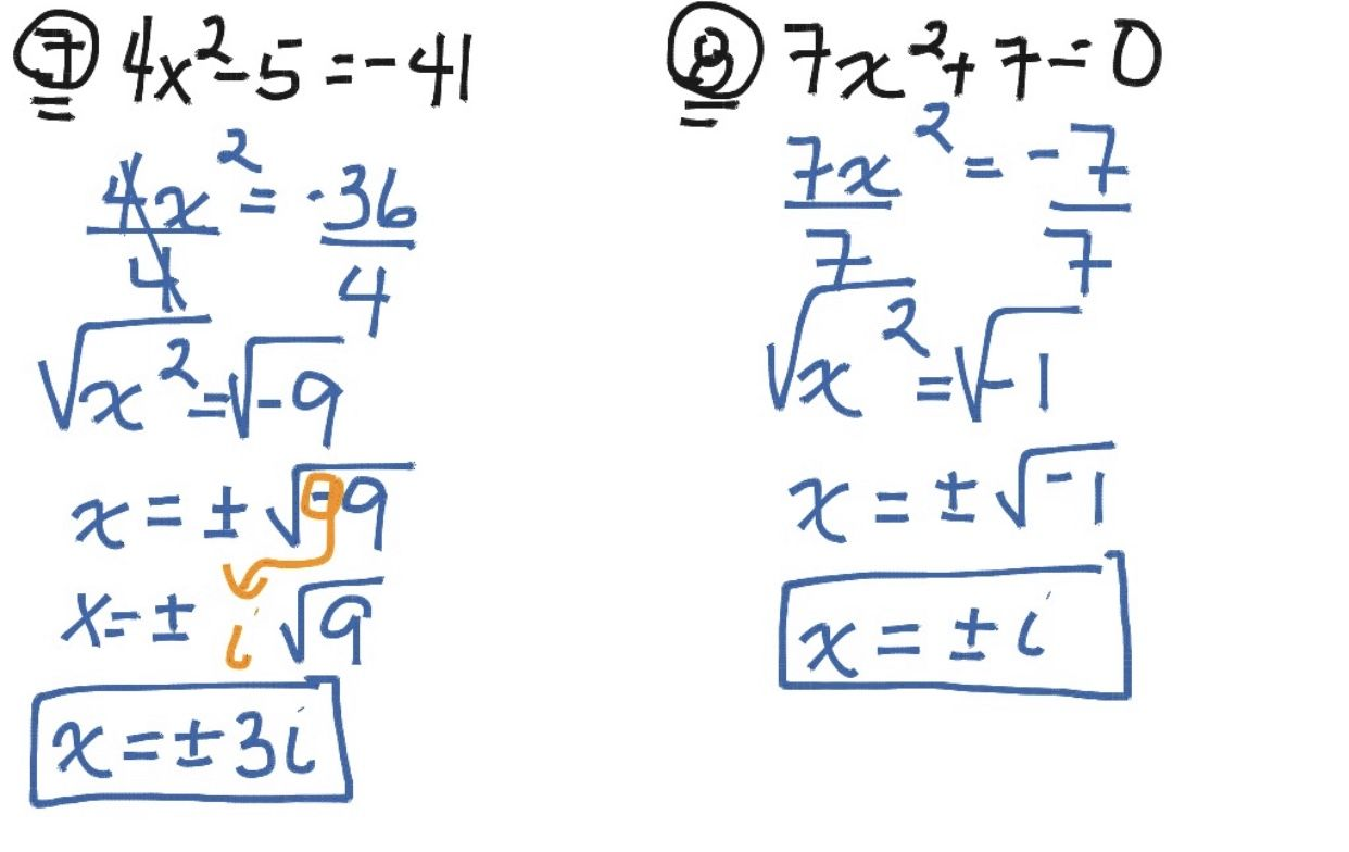 Solving Quadratics By Square Roots
