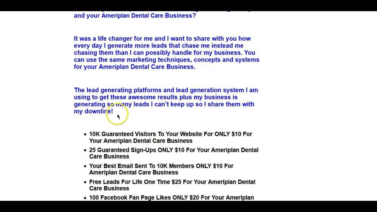 Ameriplan Leads | Medical Dental Care Leads Generate Free 100 ...