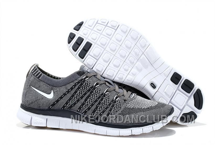 the latest 70e11 6d515 ... france 2015 newest nike free flyknit mens running shoes cheap on sale  gray black ba85c 1429a