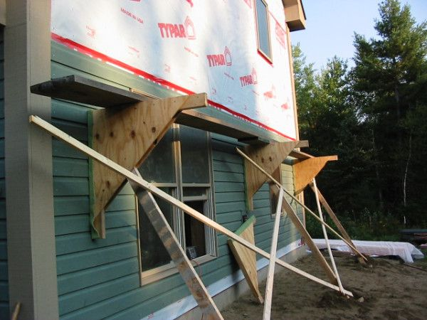 17 improvised scaffolding cranes jacks scaffolding on wall brackets id=85319