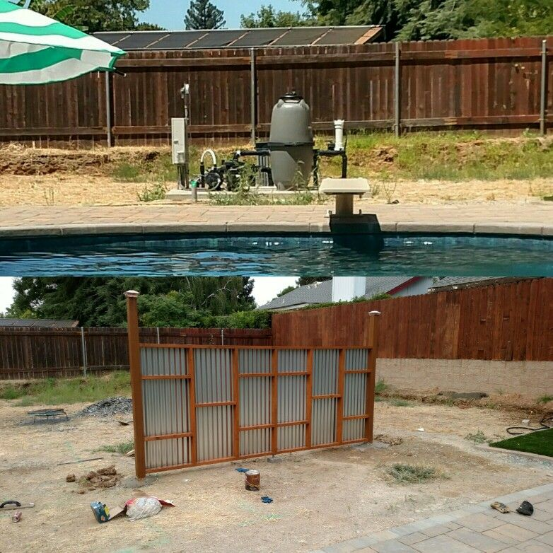 Easy And Cheap Way To Hide Pool Equipment. Before And After. Pool EquipmentHidden  Pool
