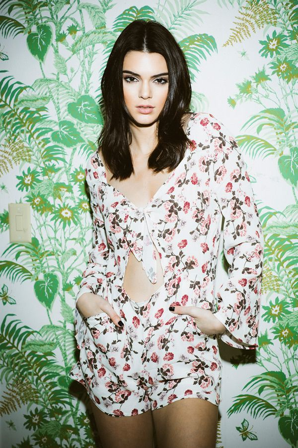 Kendall Jenner for her pacsun collection valentine edition