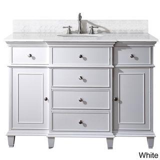 avanity windsor 48 inch white single vanity overstock com shopping