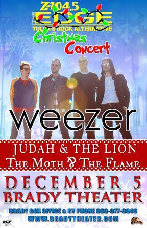 edge christmas concert weezer mon dec 5 brady theater 105 w brady st - Christmas With Weezer