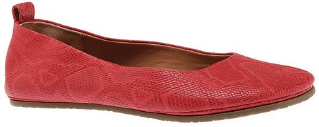 Gentle Souls Dana Ballet Flat in Red Embossed Leather