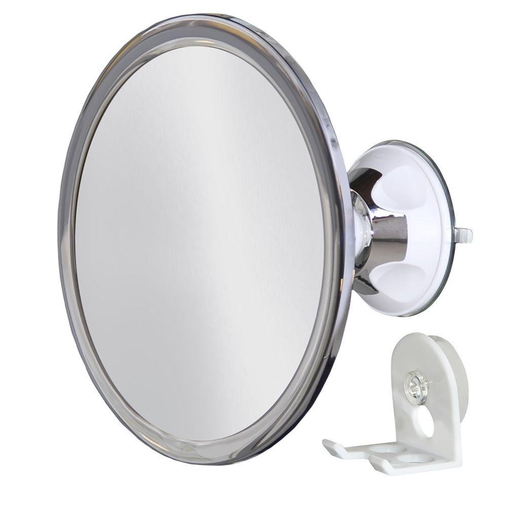 Shower Mirror Round Mirrors Shaving No Fog Wall Mount Holder
