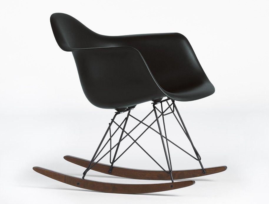 Eames Plastic Arm Rocking Chair RAR Black Schwarz Schaukelstuhl Vitra  #solebich #einrichten #einrichtungsideen