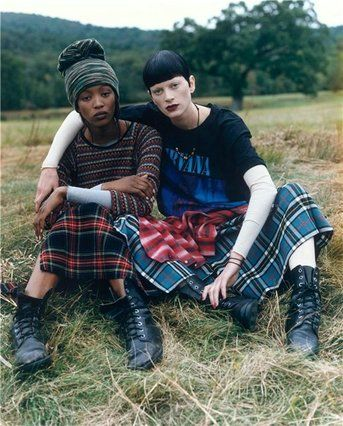 The famous Steven Meisel grunge shoot in US vogue in the 90s