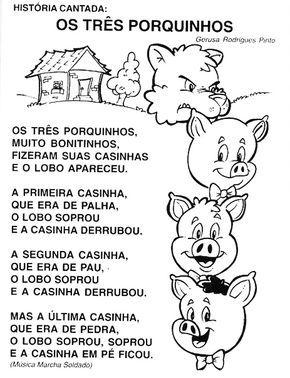 Plano De Aula Para Maternal Os 03 Porquinhos Parlendas