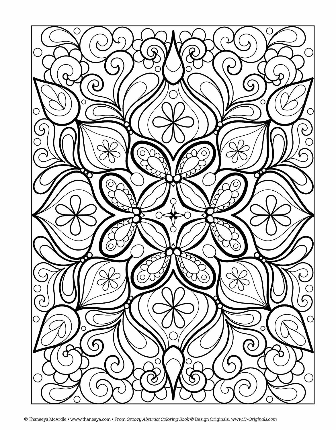 Groovy Abstract Coloring Book: Amazon.ca: Thaneeya McArdle: Books