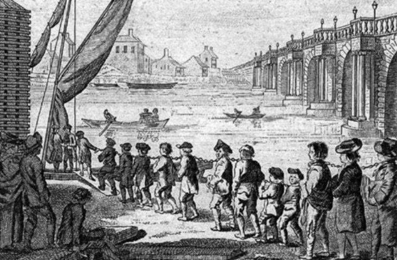 Indentured servants from England American colonies