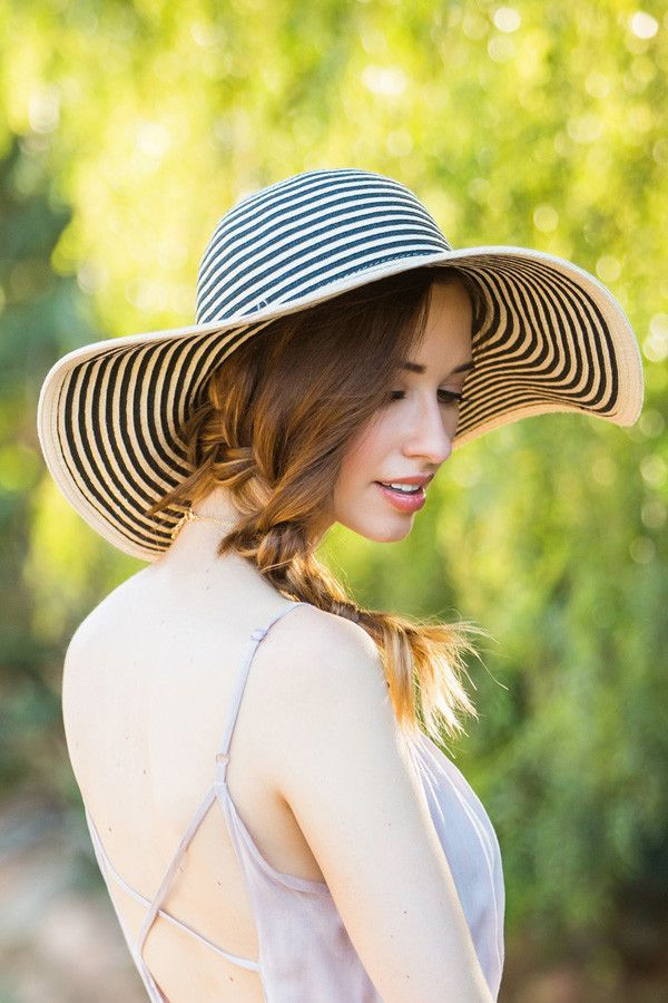 Lily Striped Floppy Hat – Morning Lavender  57f51421749