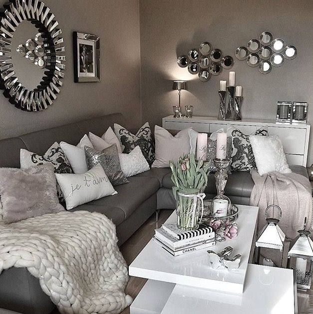Pin By On Screenshots Gray Living Room Design Silver