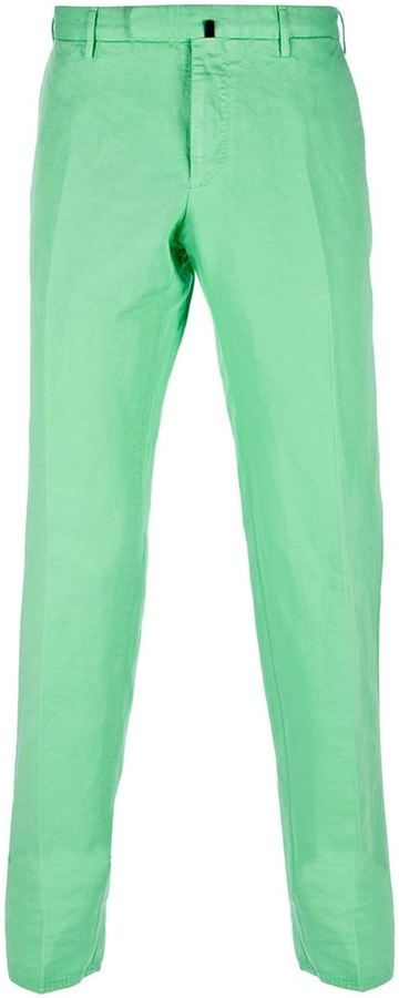 $270, Mint Chinos: Incotex Classic Chino. Sold by farfetch.com. Click for more info: https://lookastic.com/men/shop_items/61259/redirect