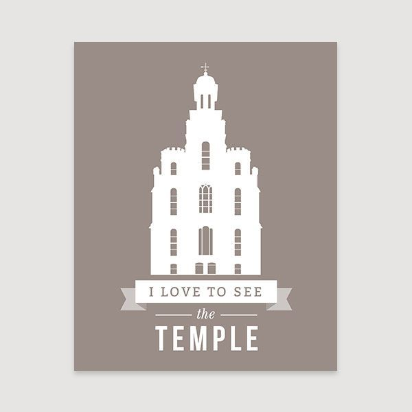 Logan Temple Colored Personalized Silhouette Logan Temple Lds
