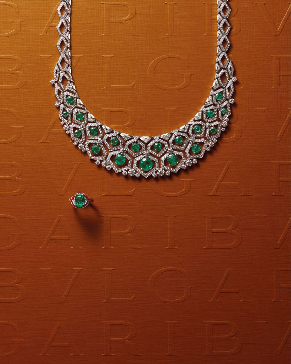 Bvlgari Barocko Meraviglia Mosaico Necklace And Ring 19