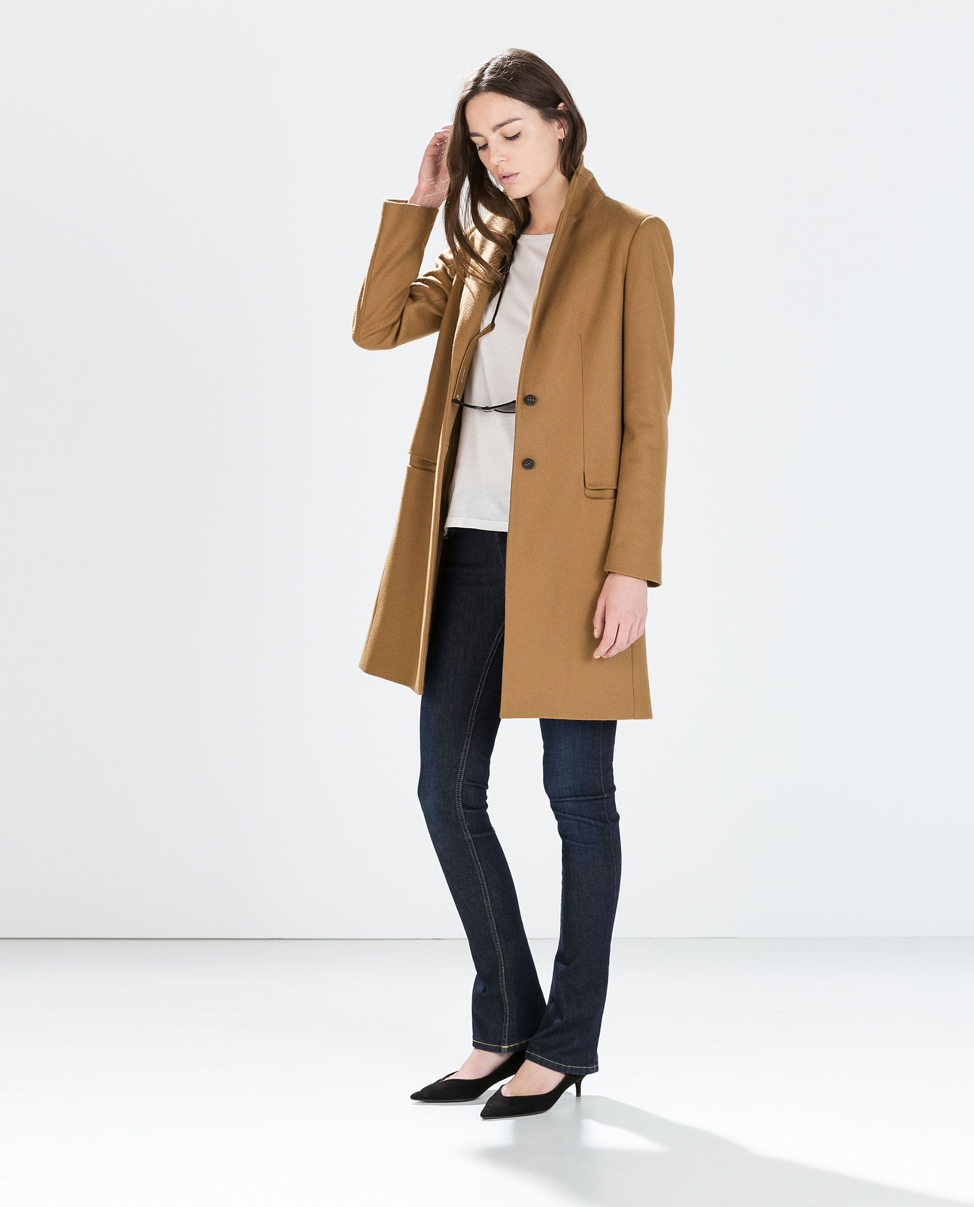 90d8b35cc0101 WOOL CAMEL COAT from Zara