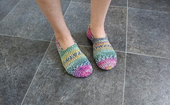 08dca81631012 Knitted slippers Pride gift Crochet socks Ladies booties Woman ...