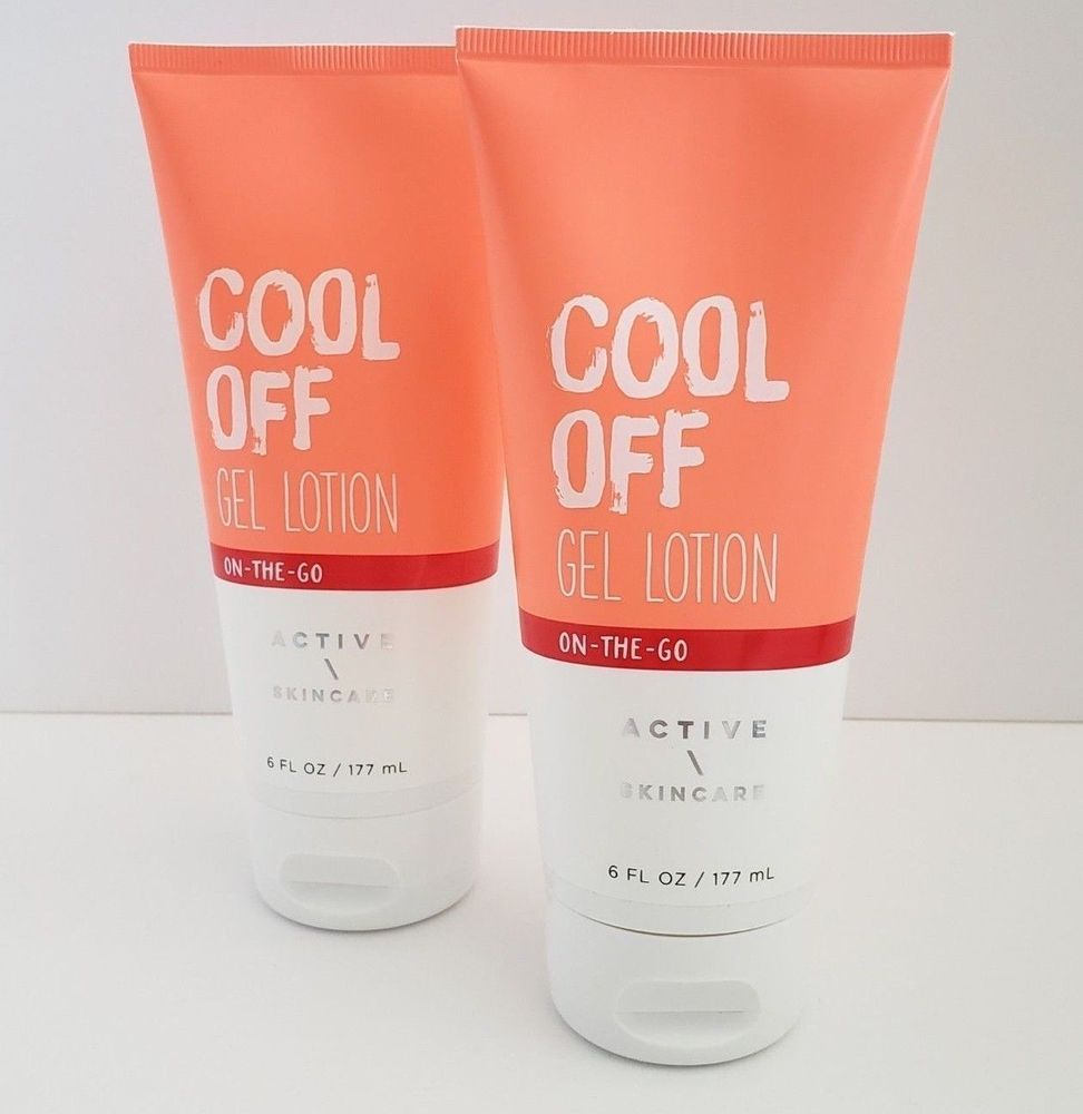 Set Of 2 Bath Body Works Cool Off Gel Lotion Active Skincare Full Size 6 Oz With Aloe Vitamin E Cool Off Gel Lot Bath And Body Works Bath And