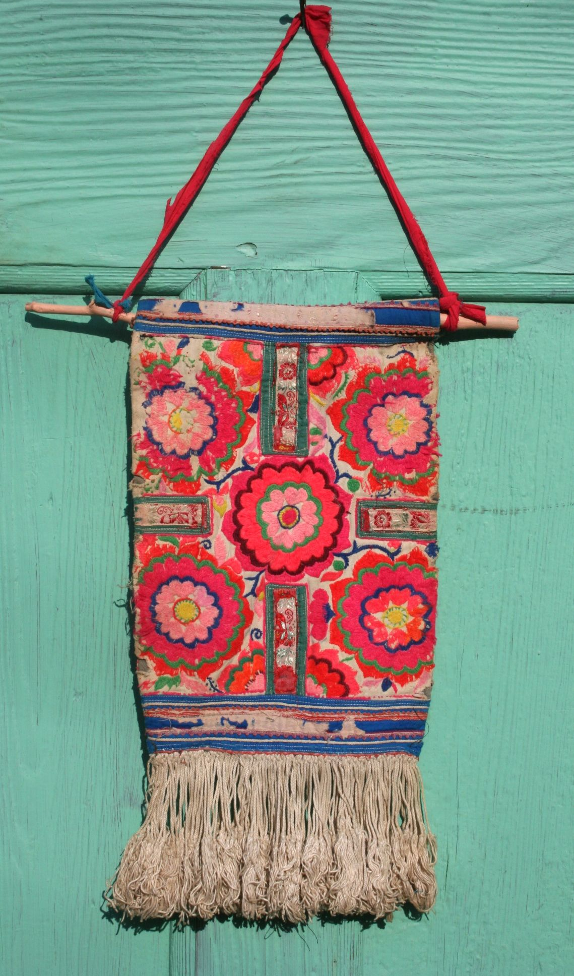 Beautiful Hand Crafted Hmong Tribal Wall Hanging Via Gypsy River