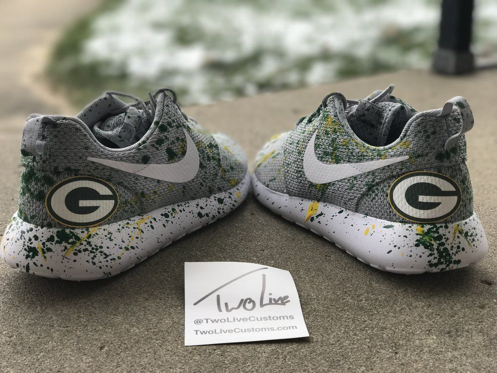 best service 1a3b4 ee54c Nike Roshe Run Packers — TwoLive