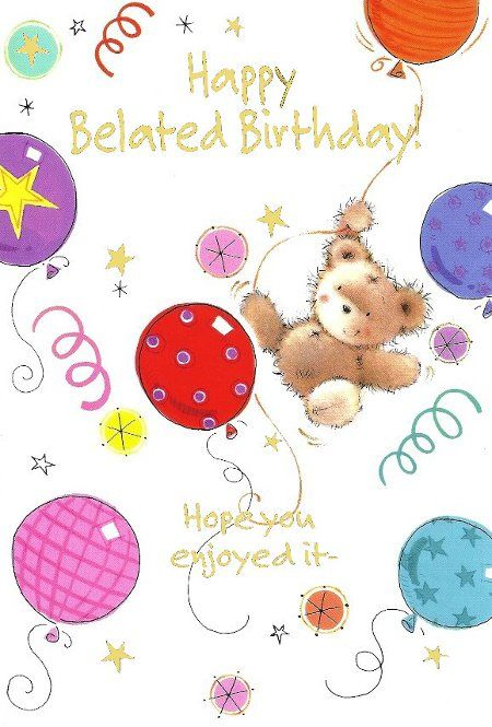 Free Printable Belated Birthday Card Birthday Cards