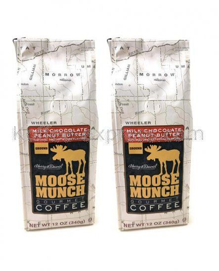 Harry & David Moose Munch Milk Chocolate Peanut Butter Ground Gourmet Coffee 2 bags [Milk-Choco-Pea-Butter-Gound-2-b] - $17.00 : Koffee Express | Wholesale Manufacturer of Coffee