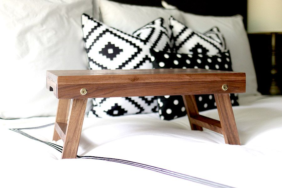 One Board Challenge How To Build A Folding Lap Desk Or Breakfast Tray