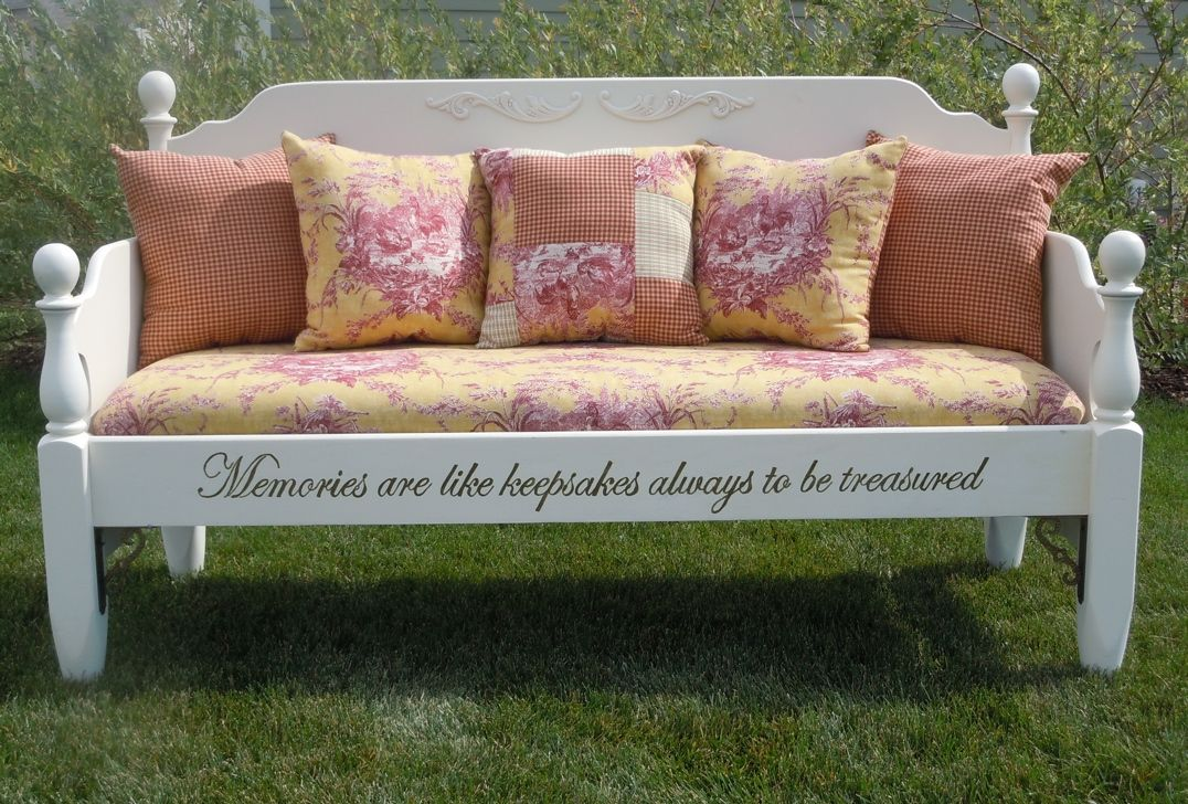 Love This Idea Made From An Old Bed Great Bench Old