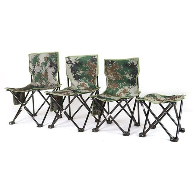 Ultralight Aluminum Alloy Foldable Four Corners Chair