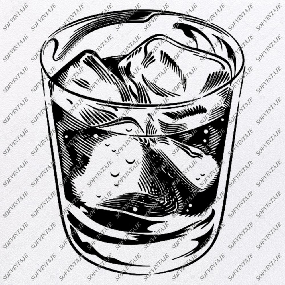 Glass Of Whisky Svg File Whisky Original Svg DesignDrink