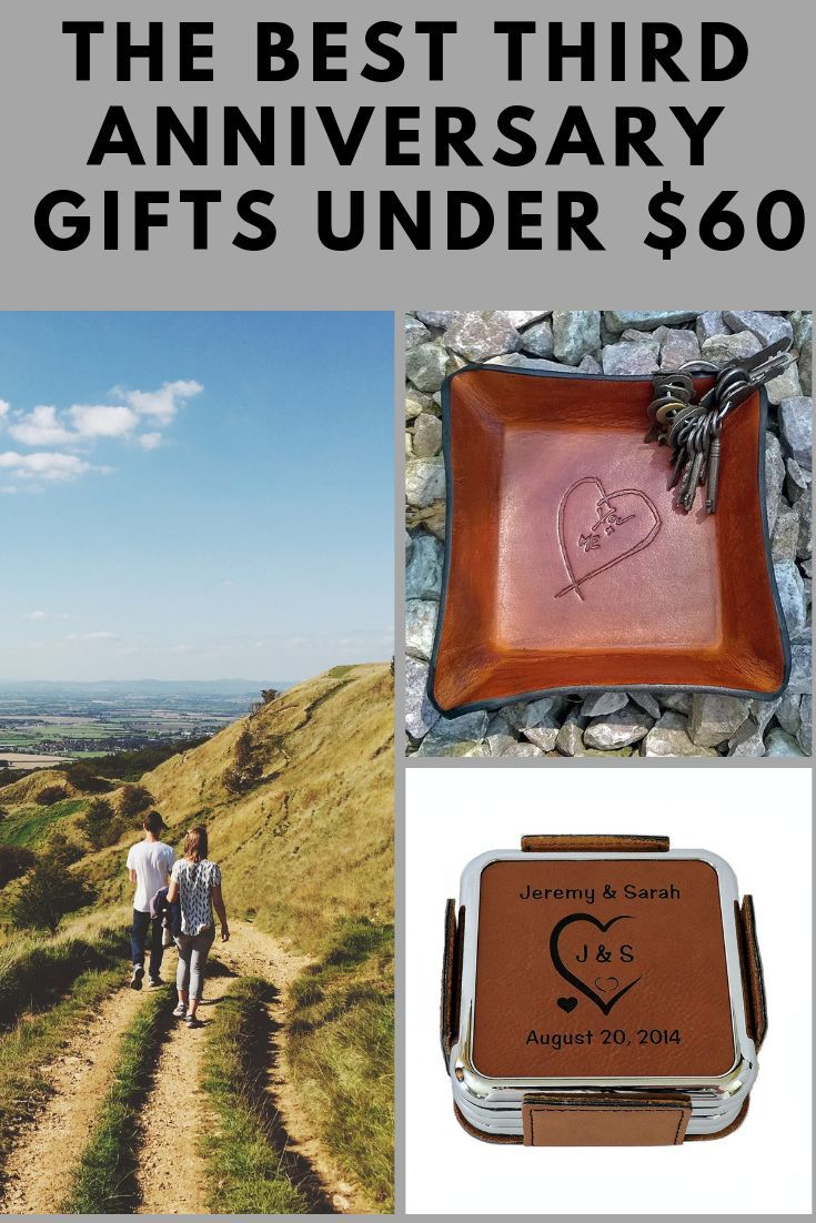 3rd wedding anniversary gifts for her under 60 third