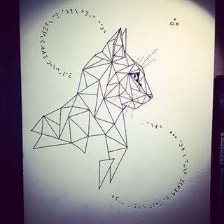 Bildergebnis Fur Katze Geometrisch Dibujos