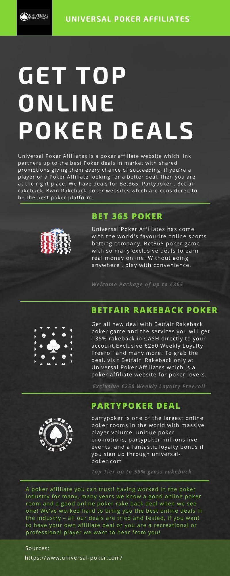 All Top Poker Deals At Universal Poker Affiliates Online Poker Poker Online