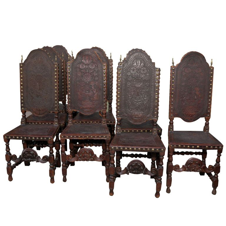 Set 8 Of Thrones Dining Chairs 1stdibs