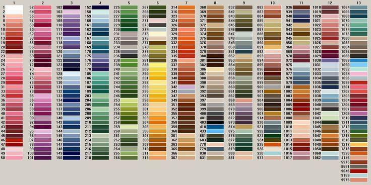 Dmc Color Chart Arenda Stroy